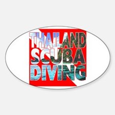 Thailand Scuba Diving Oval Decal