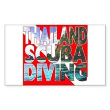 Thailand Scuba Diving Rectangle Decal