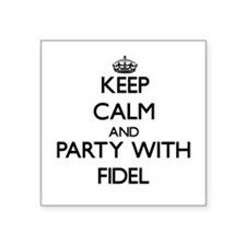 Keep Calm and Party with Fidel Sticker