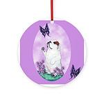 The begging Bulldog Ornament (Round)
