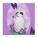 The begging Bulldog Tile Coaster