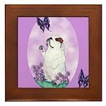 The begging Bulldog Framed Tile