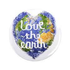 "Love_the_Earth_Heart 3.5"" Button"