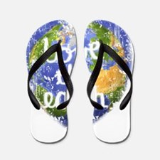 Love_the_Earth_Heart Flip Flops