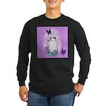 The begging Bulldog Long Sleeve Dark T-Shirt