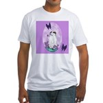 The begging Bulldog Fitted T-Shirt
