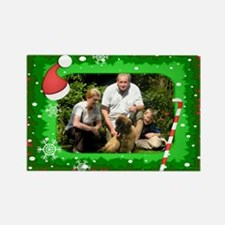 Personalizable Christmas Photo Frame Rectangle Mag