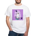 The begging Bulldog White T-Shirt