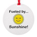 Fueled by Sunshine Round Ornament