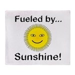 Fueled by Sunshine Throw Blanket