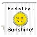 Fueled by Sunshine Shower Curtain