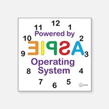 "Clock OS Square Sticker 3"" x 3"""