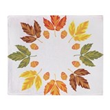 Autumn leaves Fleece Blankets