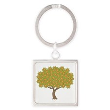 orange-tree_tr Square Keychain