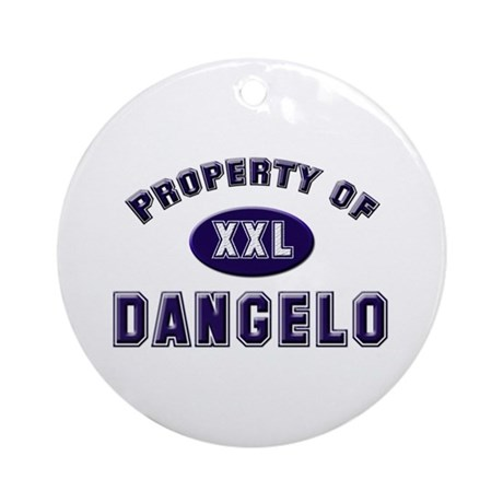 Property of dangelo Ornament (Round)