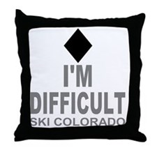 Difficult_Ski_Colorado Throw Pillow