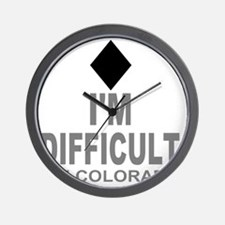 Difficult_Ski_Colorado Wall Clock