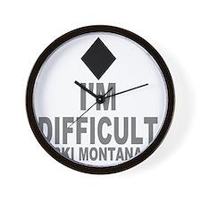 Difficult_Ski_mONTANA Wall Clock