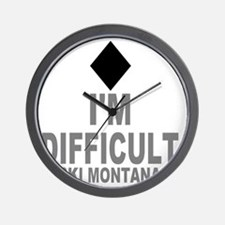 Difficult_Ski_mONTANA Wall Clock
