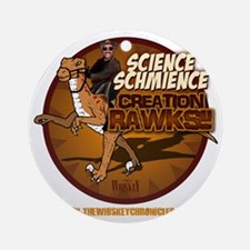 ScienceSchmience_dark Round Ornament