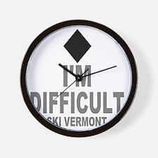 Difficult_Ski_VERMONT Wall Clock