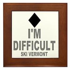 Difficult_Ski_VERMONT Framed Tile
