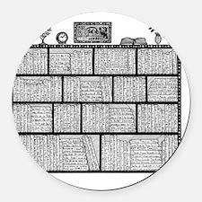 Bookshelf4 Round Car Magnet