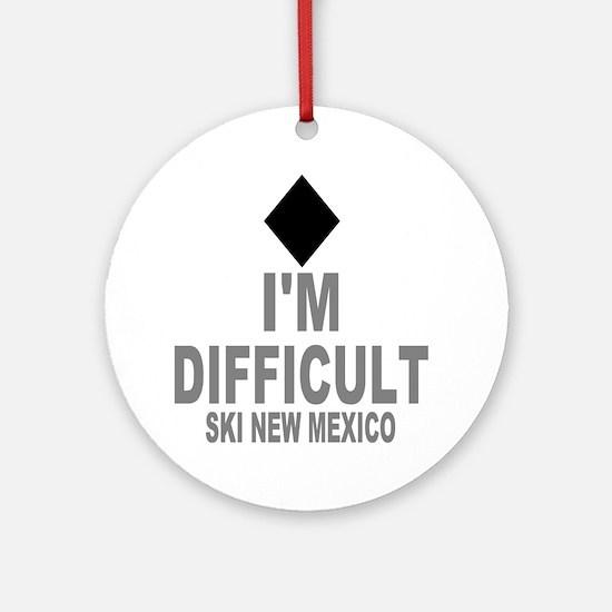 Difficult_Ski_NEW MEXICO Round Ornament