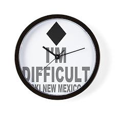 Difficult_Ski_NEW MEXICO Wall Clock