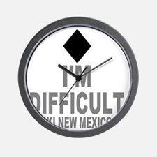 Difficult_Ski_NEW MEXICO Wall Clock