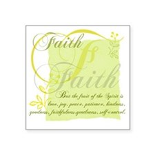 "FruitFaith Square Sticker 3"" x 3"""