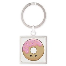 donut Square Keychain