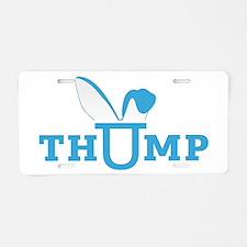 thump_logo_blue Aluminum License Plate