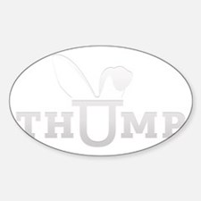 thump_logo_white_blank Sticker (Oval)
