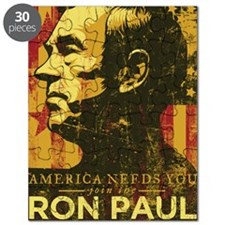 Ron Paul Distressed Poster 2009 Puzzle