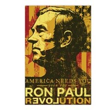 Ron Paul Distressed Poste Postcards (Package of 8)