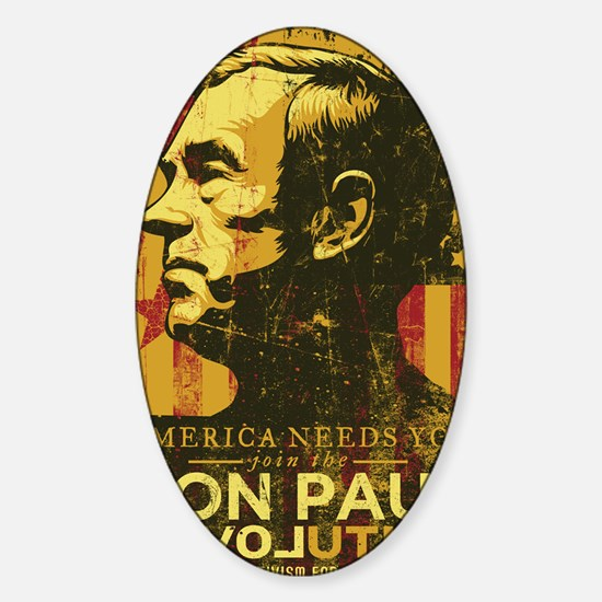 Ron Paul Distressed Poster 2009 Sticker (Oval)