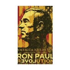 Ron Paul Distressed Poster 200 Decal