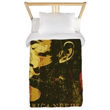 Ron Paul Distressed Poster 2009 Twin Duvet