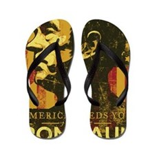 Ron Paul Distressed Poster 2009 Flip Flops