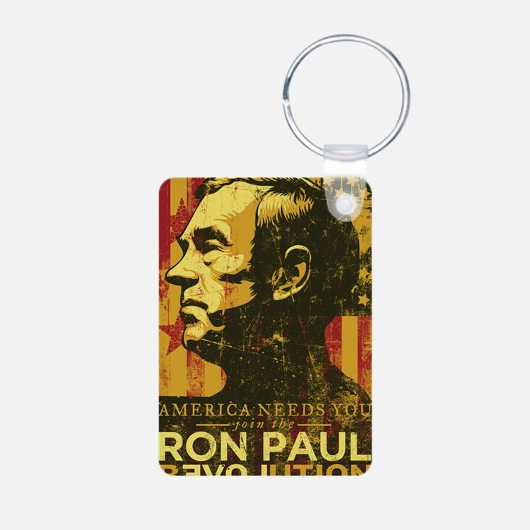 Ron Paul Distressed Poster Keychains
