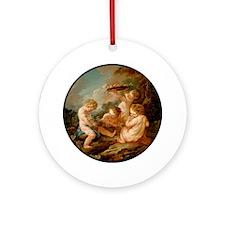 Lamour_vendangeur_1024x1024_transpa Round Ornament