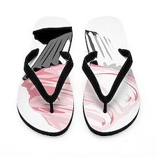 pink cupcake Flip Flops
