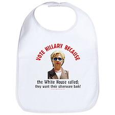 Vote Hillary Because Bib