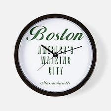 Boston_10x10_Americas Walking City_Gree Wall Clock