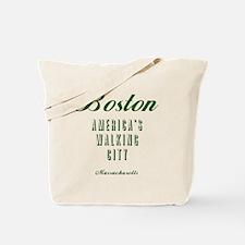 Boston_10x10_Americas Walking City_Green Tote Bag