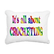 CROCHET Rectangular Canvas Pillow