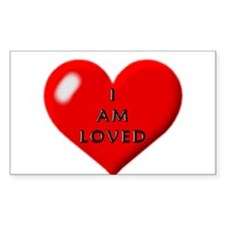 I am loved Rectangle Decal