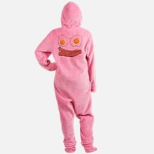 Bacon and Eggs Footed Pajamas