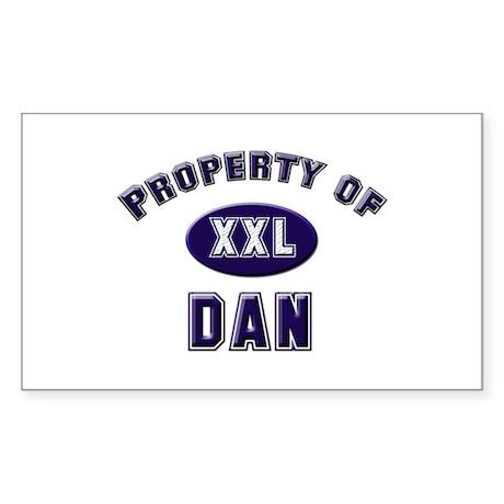 Property of dan Rectangle Sticker